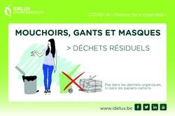 Consignes d'Idelux Environnement pour la collecte des déchets à domicile
