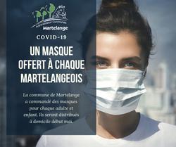 La commune de Martelange va offrir des masques à tous ses citoyens dont les enfants