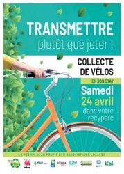 Ce samedi 24 avril, IDELUX Environnement récoltera à nouveau les vélos au recyparc de Warnach