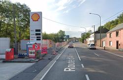 Chantier station Shell: une bande de circulation fermée sur la N4 du 26 février au 9 juillet