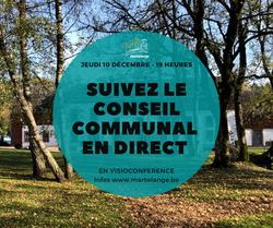 Conseil Communal en direct en visioconférence, ce jeudi 10 décembre à 19 heures