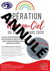 Coronavirus: annulation de l'opération Arc-en-Ciel 2020 à Martelange