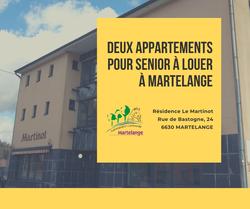 Deux appartements pour senior à louer à Martelange