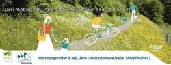 """Du 16 au 22 septembre, participe au défi mobilité du Parc Naturel et aide Martelange à être la commune la plus """"mobil active"""""""