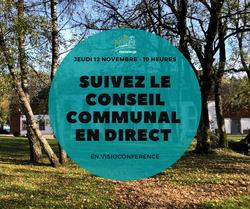 Le Conseil Communal de ce jeudi en visioconférence, suivez-le en direct