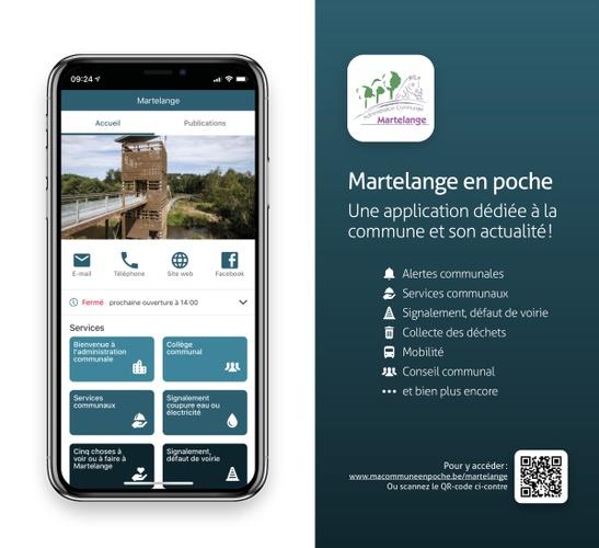 """""""Martelange en poche"""", l'application pour votre smartphone"""