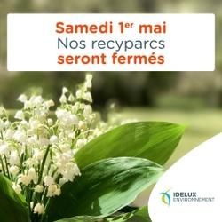 Rappel - Fermeture du recyparc de Warnach ce samedi 1er mai