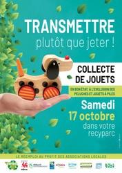 Samedi 17 octobre, participez à la collecte de jouets en bon état dans votre recyparc