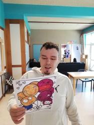 Les résidents du Point d'Eau à Grumelange ont reçu les dessins des enfants martelangeois