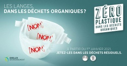 A partir du 1er janvier, les langes dans les déchets organiques ? Non, non, non !