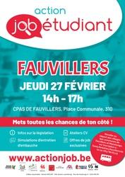 L'Action Job Etudiant aura lieu le 27 février à Fauvillers