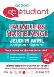L'Action Job Etudiant Fauvillers/Martelange aura lieu le jeudi 15 avril de manière virtuelle