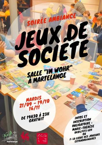 """Les soirées """"Jeux de société"""" de retour à partir de ce mardi 21 septembre à Im Wohr"""