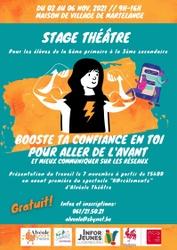 """Stage de théâtre """"Booste ta confiance en toi"""" du 02 au 06 novembre (GRATUIT)"""