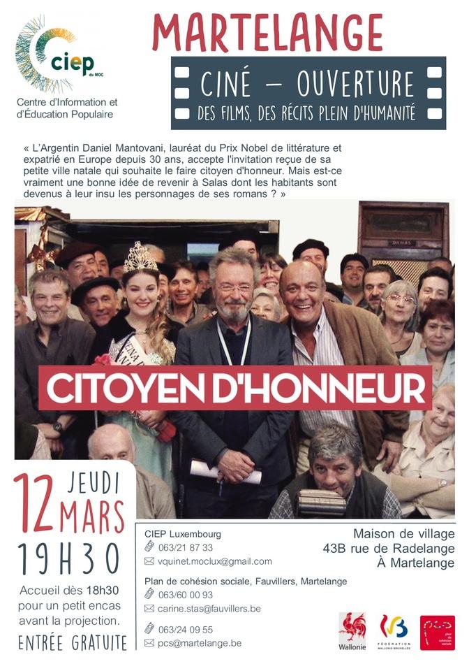 Affiche Citoyen d'honneur A4